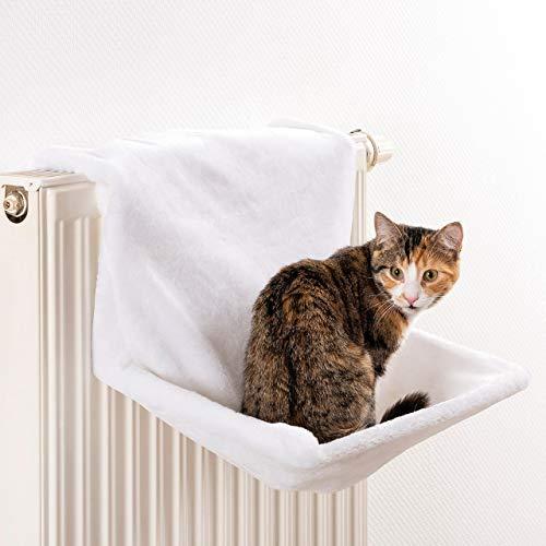 CanadianCat Company ® | Liegemulde für Katzen in weiß ca. 45x26x31 cm Katzen Heizungs-Liege L
