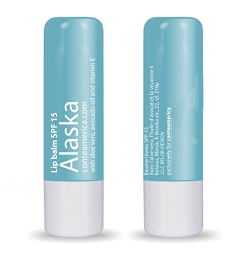 Conte Natural Beeswax Moisturizing Lip Balm Alaska Chapstick for Dry Lips with Avocado, Jojoba, Castor Oils SPF 15 (3)