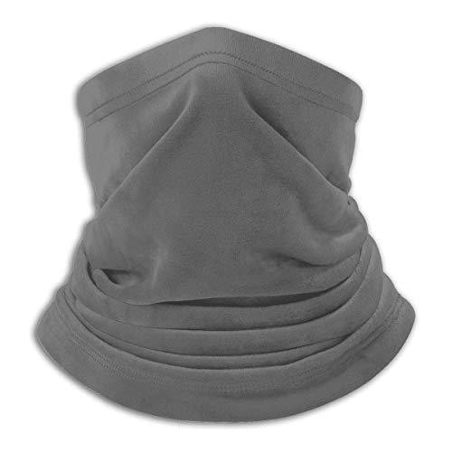 Lawenp Color sólido gris puro máscara a prueba de viento bufanda microfibra cuello calor multi-estilo cuello pasamontañas