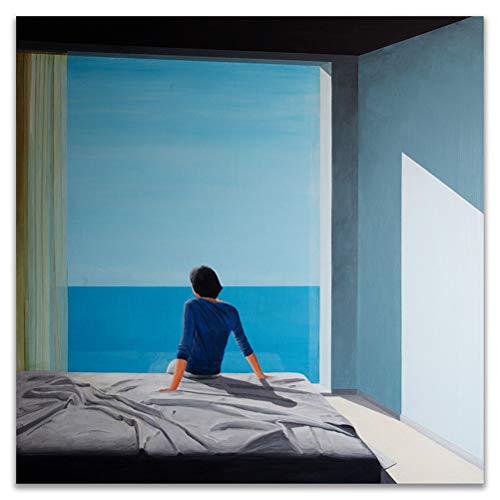 DFSDG Eine größere Spritzenkünstler-Anpassung, frische Wohnkultur-Plakat mit Pool, Print Wall Canvas-Bild für das Wohnzimmer (Color : Style 3, Size : 60x60cm Frameless)
