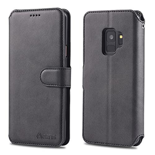 Teléfono Flip Funda Para Samsung Galaxy S9 Funda telefónica Cartera de cuero Funda Teléfono Flip Teléfono Funda Shockpoof Teléfono Funda para Samsung Galaxy S9 Tapa trasera del teléfono inteligente