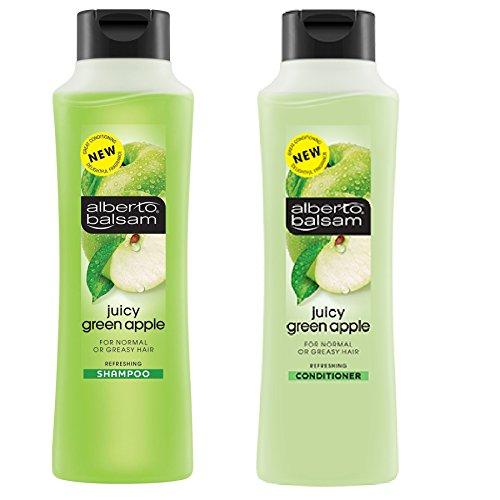 Alberto Balsam Shampooing et après-shampoing rafraîchissant aux pommes vertes juteuses