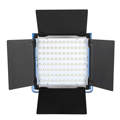 KUIDAMOS Aplicación de teléfono móvil Lámpara de fotografía con Control Remoto 3200K -6500K Luz de Video LED con Fuente de alimentación Dual, para luz suplementaria en(European Standard (100-240v))