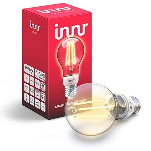 Innr E27 filament ampoule LED connectée Blanc, compatible avec Philips Hue* &...