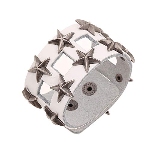 JZHJJ eenvoudige en stijlvolle klassieke paar armband lederen armband exporteren familie armband Pentagram lederen armband lederen armband bevat: armband, armbanden vrouwen, armband string
