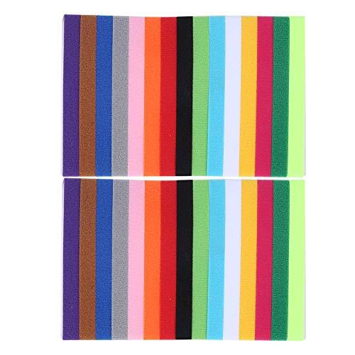 SanZHONGsd Collar para identificación de identificación de identificación, tamaño ajustable, cierre de cinta con gancho y bucle de cinta reutilizables (30 unidades/2 bolsas)
