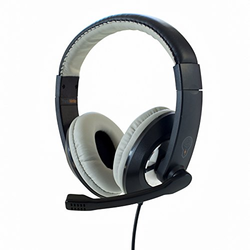 ThinkWrite Premium Headset for Apple iPad, Google Chromebook, Kindle Fire, Android Tablet and Laptops (Black)