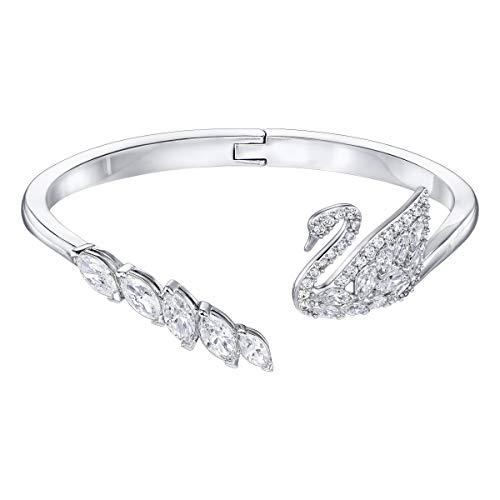 Swarovski Swan Lake Armreif für Frauen, weißes Kristall rhodiniert