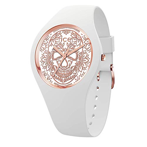 Ice-Watch - ICE change Calavera white rose-gold - Women's wristwatch with silicon strap - 016052 (Medium)