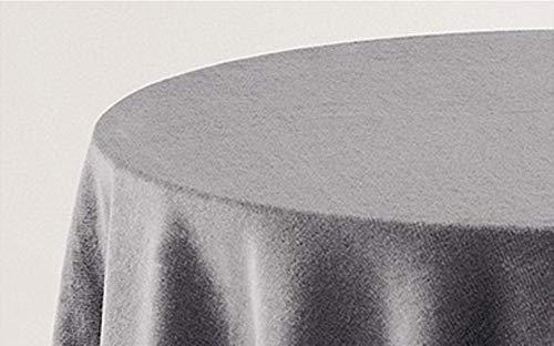 HIPERMANTA Falda Mesa Camilla Redonda Lisa Tacto Suave 100% Poliéster. Tamaño diámetro 90 cm - 233 cm, Gris.