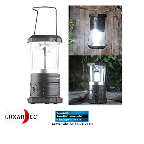 Lunartec LED Campinglampe: Dimmbare Camping-Laterne mit COB-LEDs, 750 Lumen, 9 Watt, IP44 (Campinglampe LED Batterie)