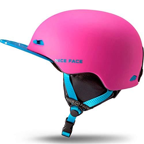 O-Mirechros Hombre/Mujer esquí Snowboard Cascos Casco esquís/Trineo acampa la Pesca Máscara Deportes Seguridad Moto Bici del monopatín C3 Free Size 58-62cm