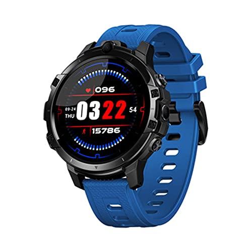 LKM 64 g Men Smart Watch Sport Fitness Pulsera Dual Cámaras GPS con Bank Power 2021 Nuevo Soporte Sim Tarjeta Smart Phone SmartWatch,C
