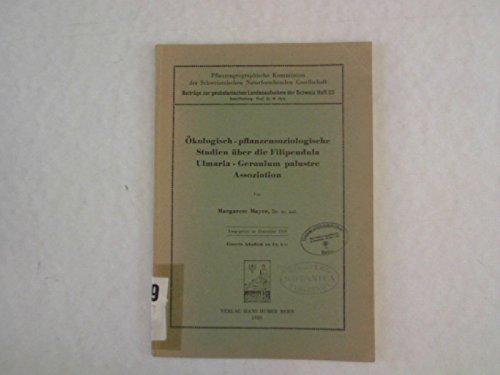 Ökologisch-pflanzensoziologische Studien über die Filipendula Ulmaria-Geranium palustre Assoziation.