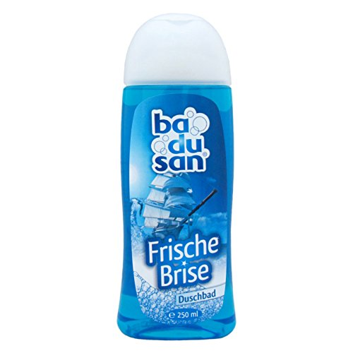 10er Pack badusan Duschbad Frische Brise 10 x 250 ml, Duschgel, ph-hautneutral Pflegedusche Körperpflege Showergel