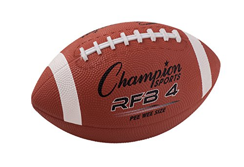 Champion Sports Pee Wee Size Rubber Football