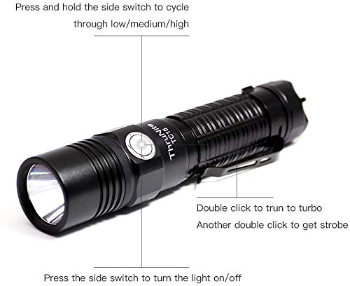 ThruNite x The Outsider TC15 Tan LED Torch Super Bright Torches Flashlight 2300 Lumens Rechargeable with IMR 18650… 2