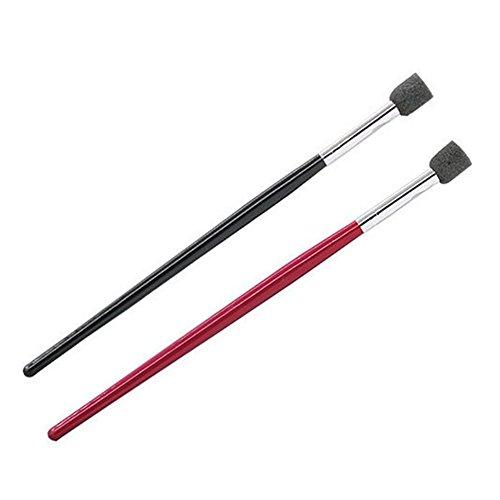 Ecloud Shop® 2pcs polonais Pinceau Nail Art outil noir rouge Tube à tête ronde Nail Art Conseils Gel Halo Dessin Pen outil
