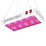 Dimgogo 1500w LED Grow Light Full Spectrum with Veg Bloom Switch, Daisy Chain Design, Double Chips LED Plant Growing Lamp for Professional Greenhouse Hydroponic Indoor Plants (10w LEDs 150Pcs)