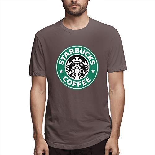 Herren Starbucks Logo Bekleidung T-Shirt Kurzarm Rundhalsausschnitt Tee T Shirt Baumwolle Sommer für Männer