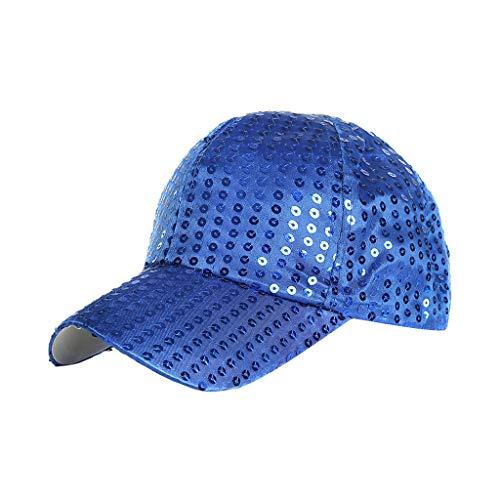 FRAUIT Unisex Hip Hop verstelbare baseballcap dames en heren pailletten cap katoen baseballpet verstelbaar volwassenen muts zomer cappy meerkleurig