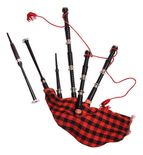 PAL MUSIC HOUSE Wood and brass Bag Pipe Black