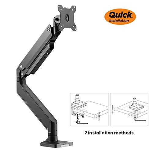 Single Swivel Monitor Arm, Roterende takelbeugel monitorstandaardarm - Past 17-40