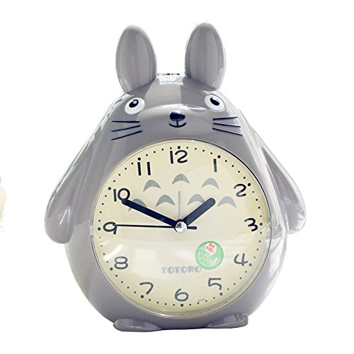 MFFACAI Totoro Quartz Wecker Pet Elf LED Leuchtet Kleine Alarm Clock, Brown