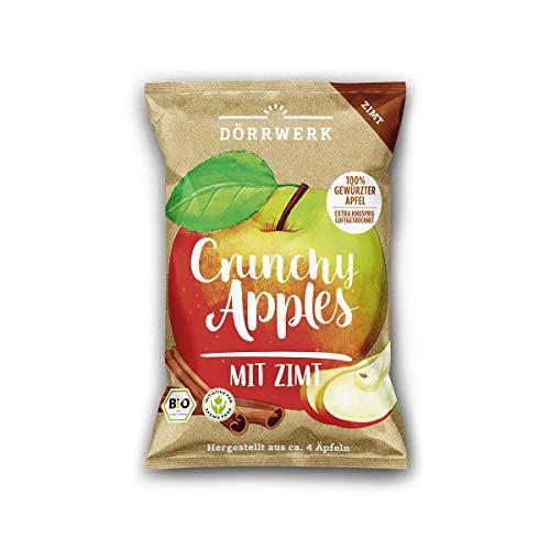 Chips de pomme à la cannelle 6 x 40g I Délicieuses chips de fruits pour une collation I Pommes séchées croquantes / 100% de fruits séchés naturels