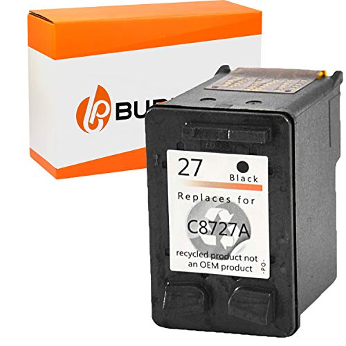Bubprint Druckerpatrone kompatibel für HP 27 HP27 für Deskjet 3320 3325 3420 3520V 3550 3650 5600 5650 Officejet 4300 4315 4355 PSC 1210 1310 Schwarz