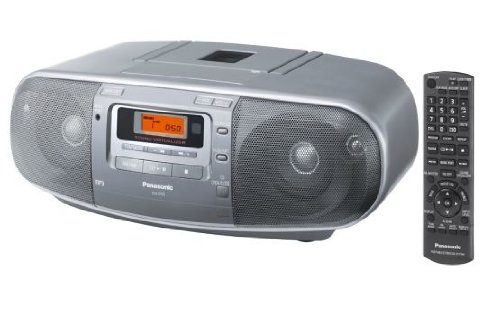 Panasonic RX-D50AEG-S - Reproductor de CD, radio, casete (60 W RMS, radio FM/AM), color plateado