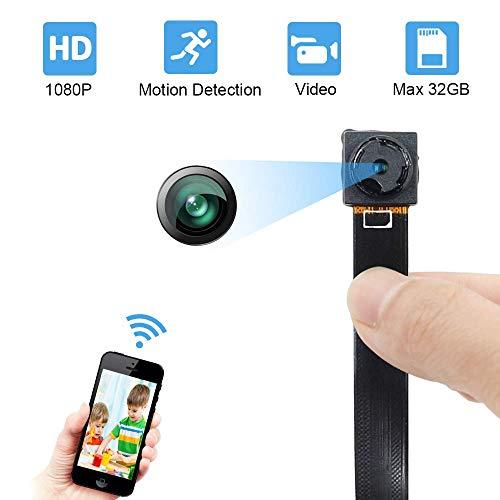 DB POWER - Mini telecamera di sorveglianza 1080P LXMIMIMIMIMIMI portatile, HD Nanny Web Cam con visione notturna e sensore di movimento, per interni ed esterni