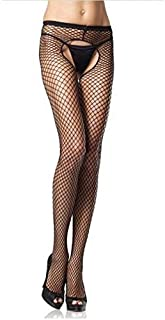 Fashion Cotton Breathable Sexy Sports socks WAZ-stockings Sexy Lingerie Women's Fishnet Tights Open Crotch Mesh Pantyhose ...