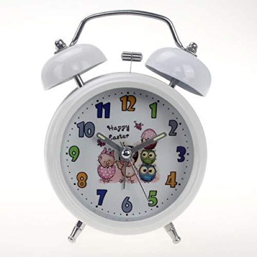 GYHJG Wekker Mute Ringing Luie Man Wekker Cartoon Klok Gezicht Metalen Dubbele Bell Kinderen Student Wekker Home/Keuken/Kantoor/School Klok