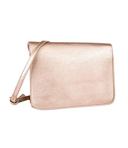 SIX Handtasche aus metallisch glänzendem Veganleder mit längenverstellbarem Trageriemen (726-754)