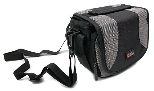 DURAGADGET Black & Grey Carry Case w/Padded Interior & Shoulder Strap - Compatible with The Excelvan Q8 Sports Action Camera