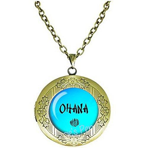 Nijiahx OHANA Medaillon-Halskette – hawaiianische Familie – Ohana Jewelry