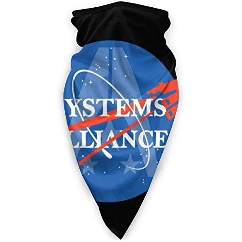 WH-CLA Pasamontañas,Mass Effect Normandy Systems Alliance Logotipo De La NASA,Sombreros Protección UV Bufanda Respirable Pañuelo De Cabeza para Pesca Correr Cámping