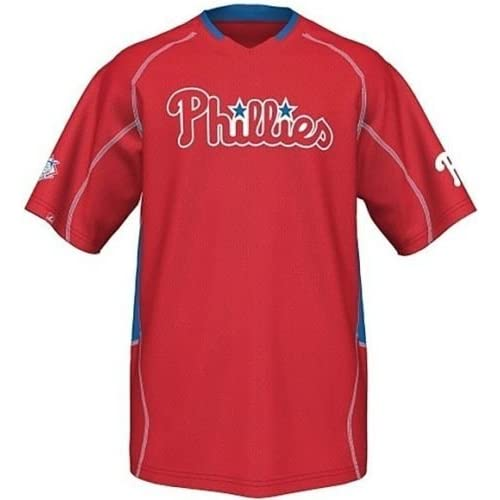 bbec00de Majestic Philadelphia Phillies Men's Fast Action Jersey Red Big and Tall  Sizes