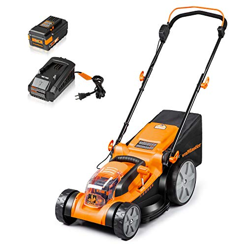 LawnMaster CLMF4016K Cordless 16-Inch Brushless Push Lawn Mower 40V Max Lithium-Ion with 4.0Ah Battery & Charger