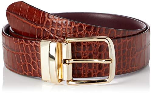 GANT Damen D1. Croco Reversible Belt Gürtel, Clay Brown, 95-38