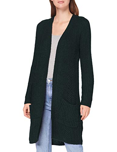 ONLY Damen Onlbernice L/S Cardigan KNT Noos Strickjacke, Grün (Green Gables Detail: Black Melange), Medium (Herstellergröße: M)