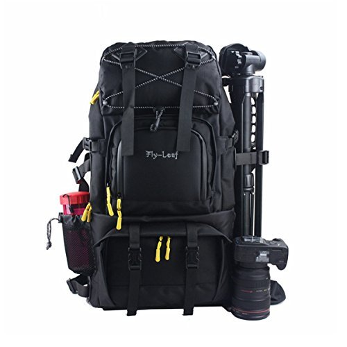 G-raphy Large Camera Backpack Bag Hiking Travel Backpack for All DSLR SLR Cameras, Laptops, Tripods and Accessories (Black)