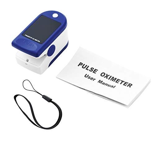 YKSO Pulsoximeter, Fingerpulsoximeter Messung Sauerstoffsättigung, Finger-Saturenmesser Sauerstoffsättigung, Tragbarer Digitales Puls-Messer LED Display Fitness für Erwachsene und Kinder (1 Sätze)