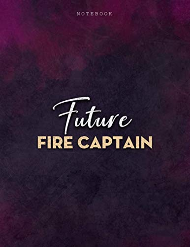 Lined Notebook Journal Future Fire Captain Job Title Purple Smoke Background Cover: Mom, Menu, PocketPlanner, Business, 21.59 x 27.94 cm, Journal, Over 100 Pages, Personalized, 8.5 x 11 inch, A4