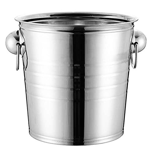 Cubo de hielo de acero inoxidable moderno, 3L / 5L / 7L / 9L / 11L, cubo de hielo duradero, utilizado para entretenimiento, fiesta, suministros de barras que contienen cubitos de hielo, vino, champagn