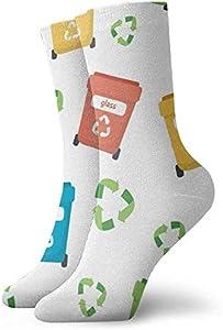 Felsiago - Calcetines cortos de algodón con diseño de cubo de basura, para adultos, cómodos, para hombre, mujer, yoga, senderismo, ciclismo, correr, fútbol, deporte
