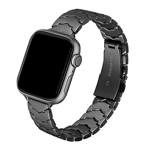 AOYU Compatible con Apple Watch Correa 38 mm 40 mm, metal único en forma de estrella, compatible con iWatch Series 6/5/4/3/2/1, SE (38 mm 40 mm, negro clásico).