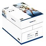 inapa Tecno Star - Papel para impresora y fotocopiadora (80 g/m², A4, 2500 hojas (5 x 500), color blanco