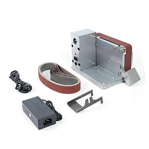 Mini Bandschleifer DIY Schleifmaschine Kantenschärfer Bandschleifmaschine mit Schleifband 795 Spindelmotor